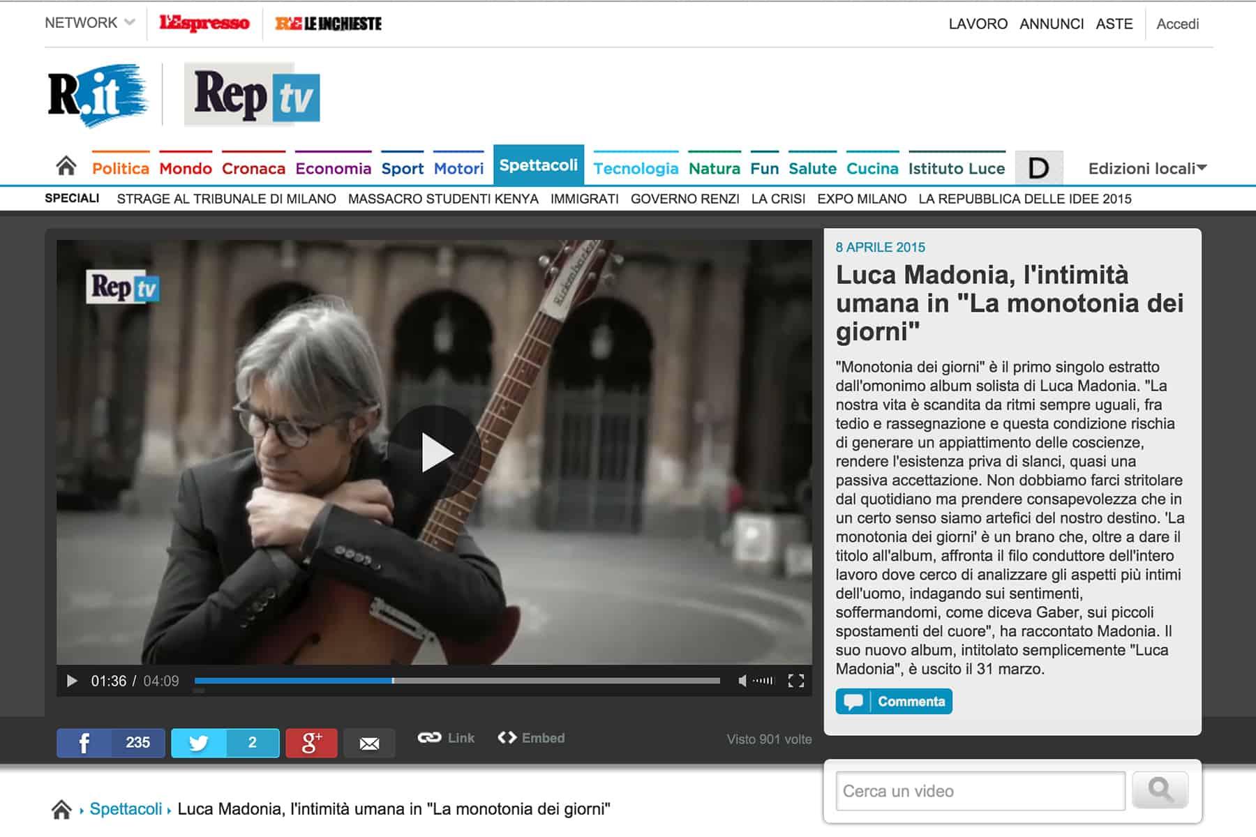 Su repubblica tv for Sito repubblica